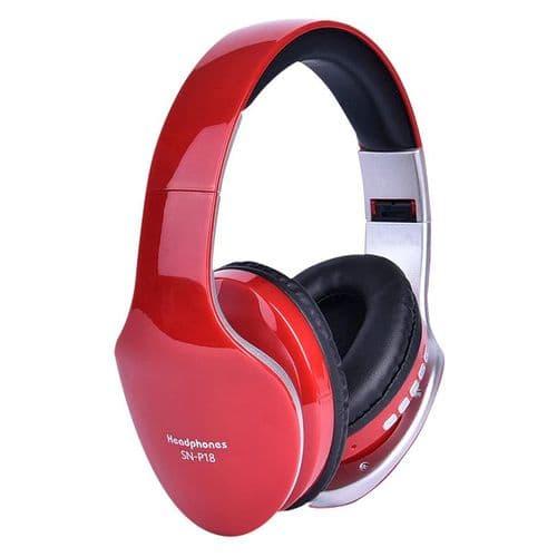 Casque Stéréo Sans Fil Bluetooth Pliable Avec Fente Pour Carte Tf Et Microphone